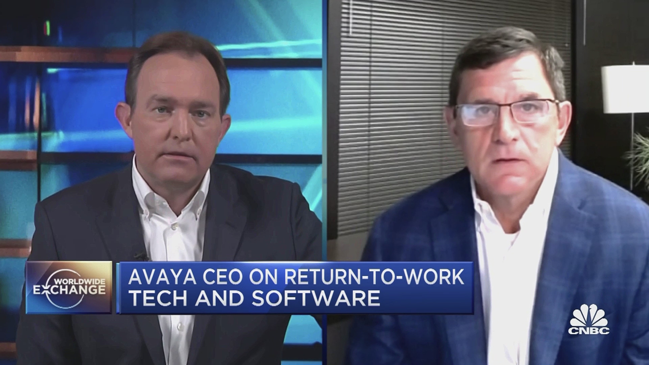 CNBC Interview: Avaya Q2 Financials and Return-to-Office...