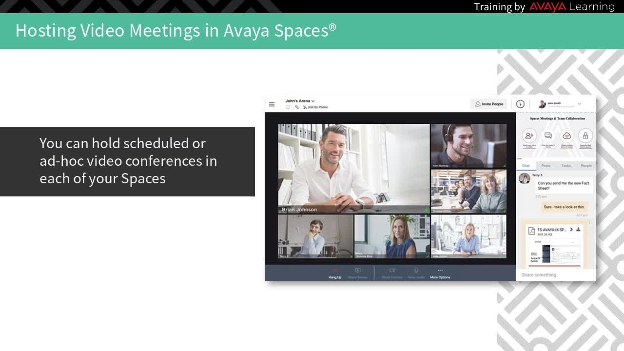 Avaya Spaces Demo: Sharing Your Screen in Avaya Spaces